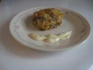 Tuna Cake with Dijon Sauce