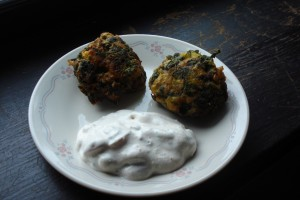 Vegetable Pakora with Raita