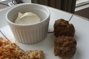Spiced Kofta and Tahini Cream