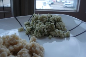 """Two """"Rice"""" Dishes, Coconut and Cilantro Lime"""